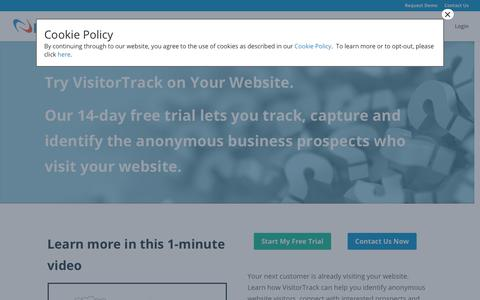 Screenshot of Trial Page netfactor.com - Website Visitor Tracker Software, Track Site Visitors - captured Aug. 4, 2018