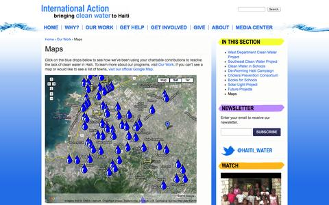 Screenshot of Maps & Directions Page haitiwater.org - Maps | Haiti Charitable Organization | International Action - captured Oct. 6, 2014