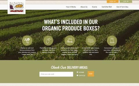 Screenshot of Signup Page farmfreshtoyou.com - Farm Fresh To You - Compare Products - captured June 5, 2017