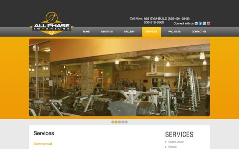 Screenshot of Services Page allphase.biz - Services | All Phase Interiors LLC - captured Oct. 4, 2014