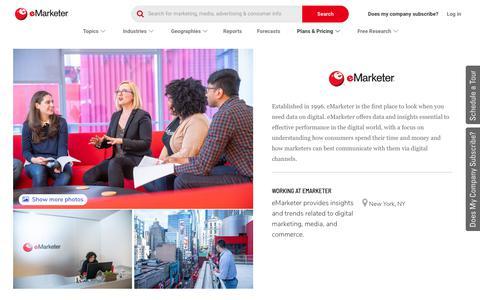 Screenshot of Jobs Page emarketer.com - Careers | eMarketer - captured Sept. 22, 2019