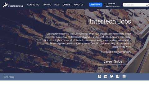 Screenshot of Jobs Page intertech.com - Intertech Jobs | .NET Jobs | Java Jobs | Programming Jobs - captured Sept. 19, 2018