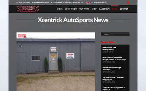 Screenshot of Press Page xkautosports.com - News | Xcentrick Autosports - captured Oct. 7, 2014
