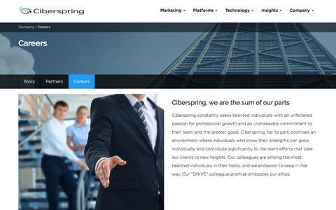 Screenshot of Jobs Page ciberspring.com - Careers - Ciberspring - captured July 18, 2018