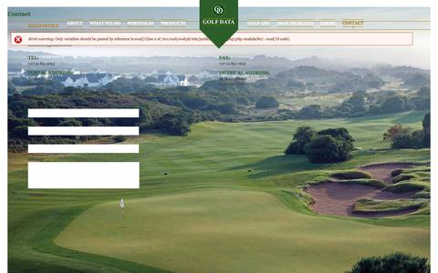 Screenshot of Contact Page golfdata.co.za - Contact | Golf Data - captured Sept. 30, 2014