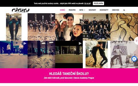 Screenshot of Home Page danceacademy.cz - Dance Academy Prague - Tane�ní Škola Praha - captured Nov. 23, 2016