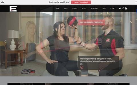 Screenshot of Home Page efspersonaltraining.com - EFS Personal Training and General Fitness Programs - captured Dec. 6, 2015