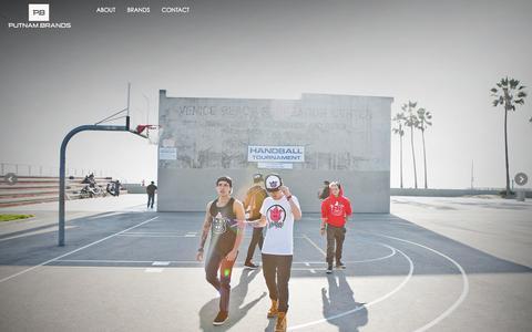 Screenshot of Home Page putnambrands.com - Putnam Brands - captured Sept. 30, 2014