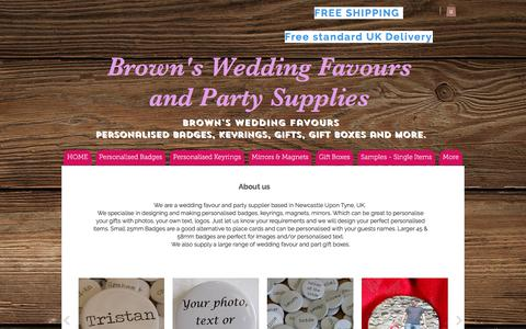 Screenshot of About Page brownsweddingfavours.co.uk - Browns Wedding Favours - About Us - captured June 3, 2017
