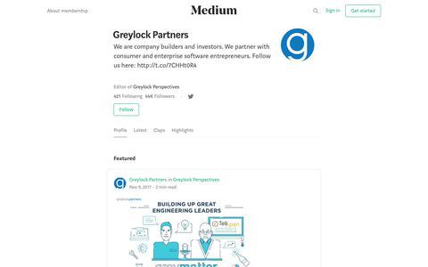 Greylock Partners – Medium