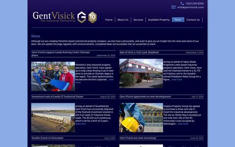 Screenshot of Press Page gentvisick.com - News - Gent Visick - captured Sept. 29, 2014