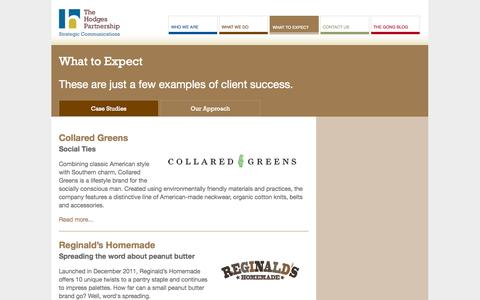 Screenshot of Case Studies Page hodgespart.com - Case Studies | The Hodges Partnership - captured Oct. 6, 2014