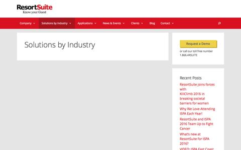 Solutions by Industry | ResortSuite