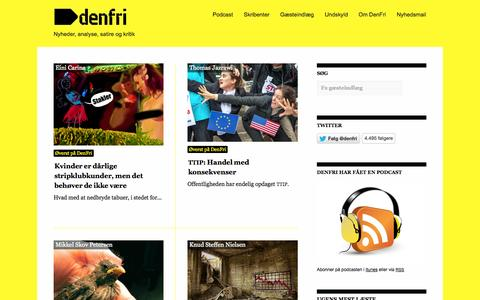 Screenshot of Home Page denfri.dk - DenFri.dk - captured Jan. 24, 2015