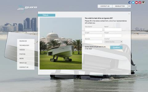 Screenshot of Trial Page iguana-yachts.com - Trials - Iguana Yachts - captured Sept. 30, 2014