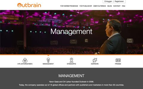 Screenshot of Team Page outbrain.com - Treffen Sie unser Managementteam | Outbrain.com - captured April 19, 2018