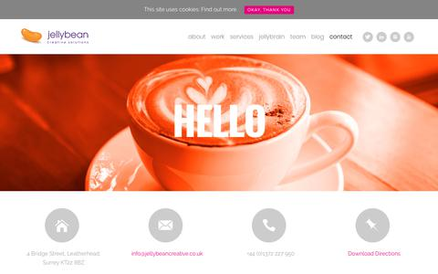 Screenshot of Contact Page jellybeancreative.co.uk - Foodservice Agency - Contact Us - Jellybean Creative Solutions - captured Oct. 16, 2017