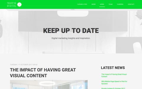 Screenshot of Press Page traff1k.com - News & Blog | Digital Marketing | Ecommerce Website - captured Oct. 24, 2017