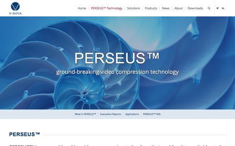 Screenshot of FAQ Page v-nova.com - Perseus - V-Nova - captured Dec. 10, 2016