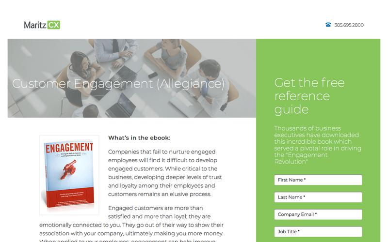 Customer Engagement (Allegiance) | MaritzCX
