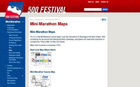 Screenshot of Maps & Directions Page 500festival.com - Mini-Marathon Maps | 500 Festival - captured Oct. 27, 2014