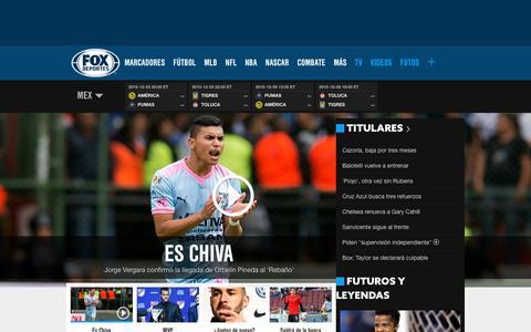 Screenshot of Home Page foxdeportes.com - Noticias de deportes, resultados, videos            FOX Deportes - captured Dec. 2, 2015