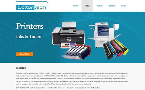 Screenshot of About Page cottontech.com - Cottontech - Quality Technology : History - captured Oct. 3, 2014