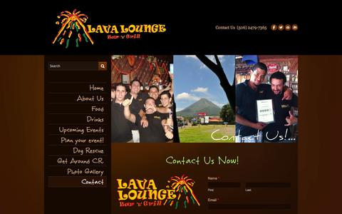 Screenshot of Contact Page lavaloungecostarica.com - Contact - Lava Lounge Costa Rica - captured Oct. 2, 2014