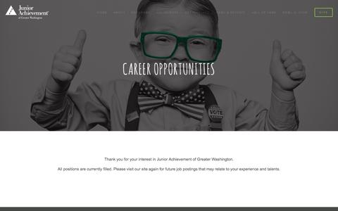 Screenshot of Jobs Page myja.org - Careers — Junior Achievement of Greater Washington - captured Nov. 27, 2016