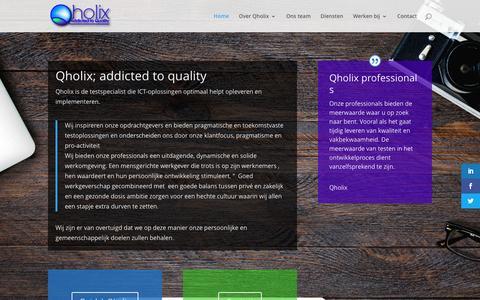 Screenshot of Home Page qholix.com - Home - Qholix - captured Dec. 8, 2015