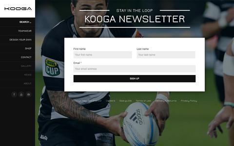 Screenshot of Signup Page kooga.co.nz - Newsletter sign up | Kooga New Zealand Ltd - captured Nov. 3, 2014