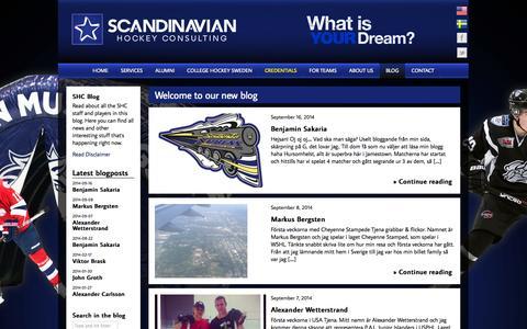 Screenshot of Blog scandhock.com - Welcome to our new blog - Scandinavian Hockey - captured Oct. 4, 2014