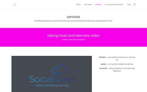 Screenshot of Services Page vu-uk.com - services | VU - captured Oct. 26, 2014