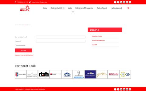 Screenshot of Login Page akademiakult.com - Log-in | Akademia Kult - captured May 14, 2016