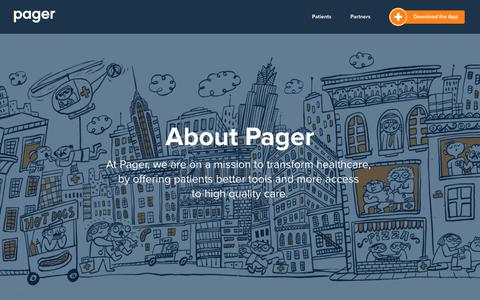 Pager | About