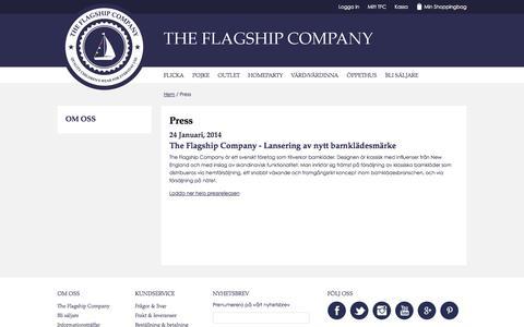 Screenshot of Press Page theflagshipcompany.com - Press - The Flagship Company - captured Oct. 26, 2014