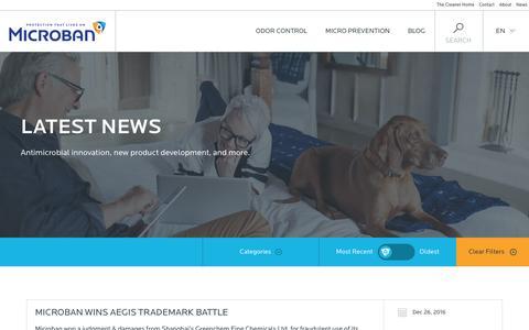 Screenshot of Press Page microban.com - News & New Product Development Ideas | Microban - captured Jan. 31, 2017