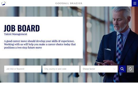 Screenshot of Jobs Page goodallbrazier.com - Job Board - captured May 22, 2017