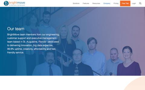 Screenshot of Team Page brightmove.com - Team | BrightMove - captured Jan. 13, 2018