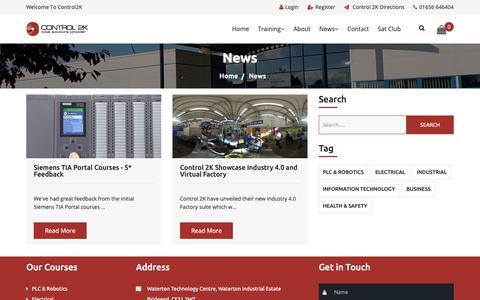 Screenshot of Press Page control2k.co.uk - News - captured Dec. 15, 2018