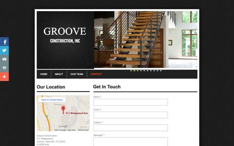Screenshot of Privacy Page Contact Page grooveconstruction.com - Contact - captured Oct. 23, 2014