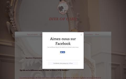 Screenshot of FAQ Page divaofcake.com - DIVA OF CAKE Cake Designer Mariage  | FAQ'S - captured Aug. 9, 2018