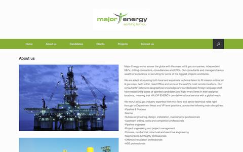 Screenshot of About Page major-energy.com - About us | - captured March 26, 2017