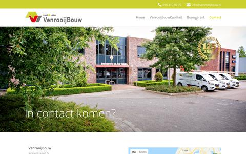 Screenshot of Contact Page venrooijbouw.nl - Contact | venrooij - captured Oct. 6, 2018