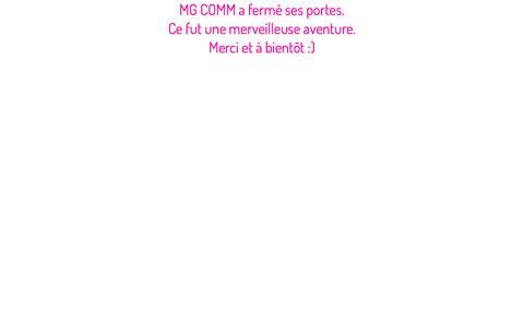 Screenshot of Home Page mgcomm.fr - Merci et à bientôt - captured Nov. 28, 2017