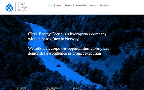 Screenshot of Home Page cleanenergyinvest.no - Clean Energy Group - captured Oct. 2, 2014