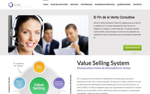 Screenshot of Home Page gvsconsultores.com - GVS Consultores - Gerencia, Ventas y Servicios Empresariales - captured Sept. 29, 2014