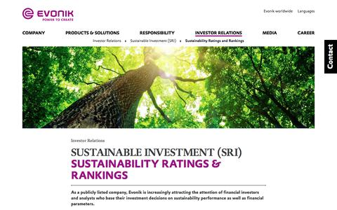 Sustainability Ratings and Rankings - Evonik Industries AG