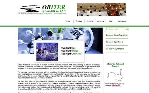 Screenshot of Home Page obires.com - Obiter Research, LLC - captured Oct. 7, 2014