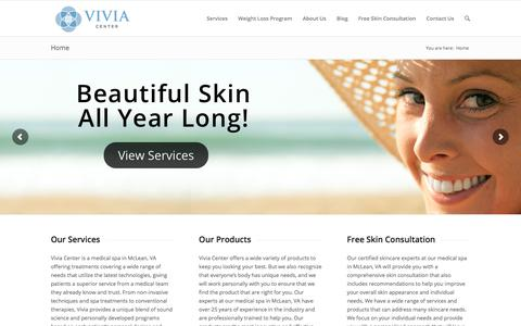 Screenshot of Home Page viviacenter.com - Medical Spa in McLean, VA | Vivia Center - captured Nov. 9, 2017
